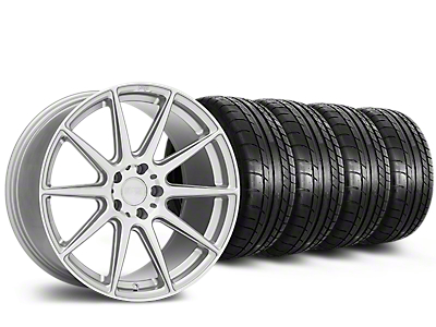 Staggered Niche Essen Silver Wheel & Mickey Thompson Tire Kit - 19x8.5/10 (15-19 All)