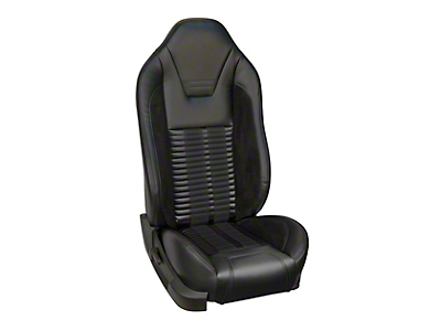 TMI Premium Sport R500 Upholstery & Foam Kit for Airbag Equipped Seats - Black Vinyl & Black Stripe/Stitch (13-14 GT)