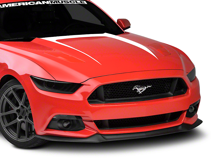 American Muscle Graphics Hood Graphic Decal - White (15-17 GT, EcoBoost, V6)