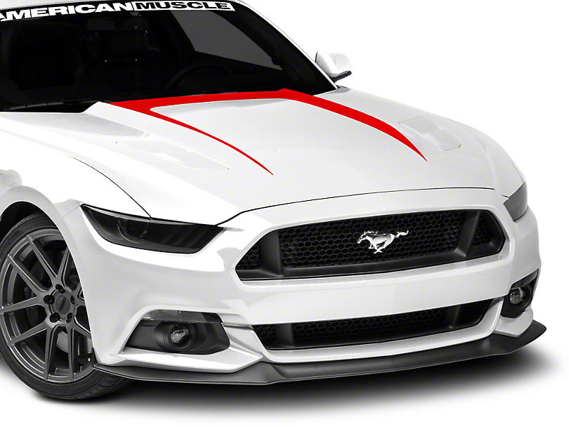 American Muscle Graphics Hood Graphic Decal - Red (15-17 GT, EcoBoost, V6)