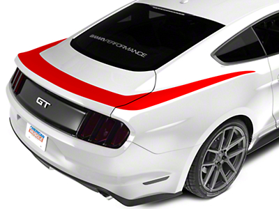 American Muscle Graphics Red Upper Rear Surround Decal (15-18 All)