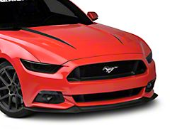American Muscle Graphics Hood Accent Decal; Matte Black (15-17 GT, EcoBoost, V6)