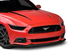 American Muscle Graphics Hood Accent Decal; Black (15-17 GT, EcoBoost, V6)