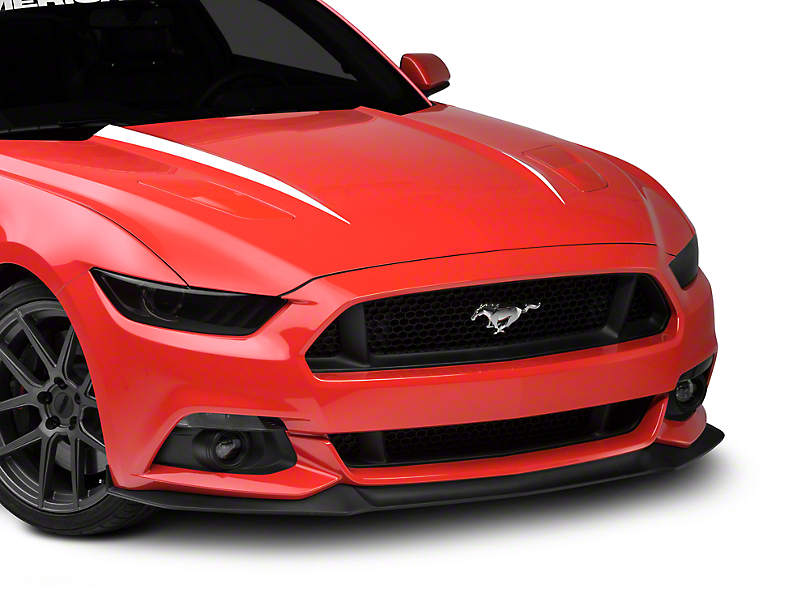 American Muscle Graphics Hood Accent Decal - White (15-17 GT, EcoBoost, V6)