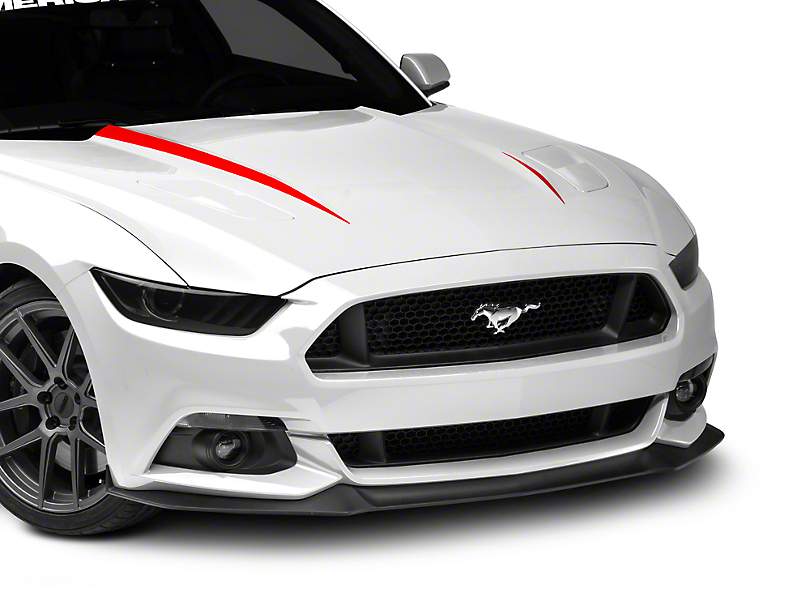 American Muscle Graphics Hood Accent Decal - Red (15-17 All)