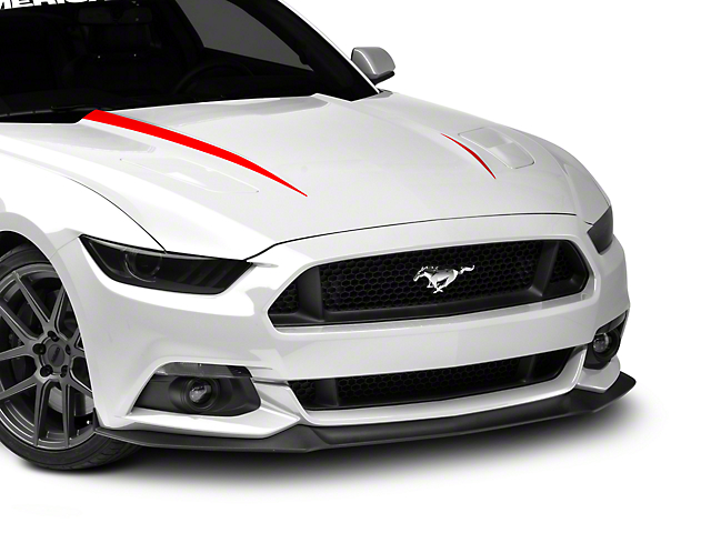 SEC10 Hood Accent Decal; Red (15-17 GT, EcoBoost, V6)