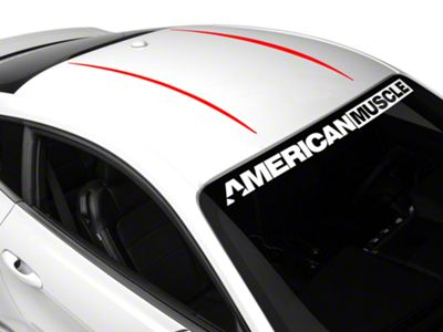 American Muscle Graphics Roof Accent Stripes - Red (15-19 All)