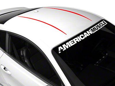 American Muscle Graphics Roof Accent Stripes - Red (15-17 All)