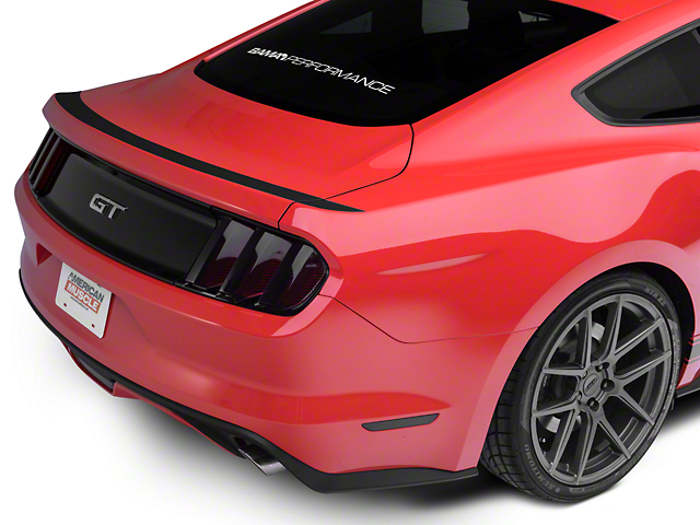 American Muscle Graphics Upper Rear Deck Decal - Matte Black (15-18 All)