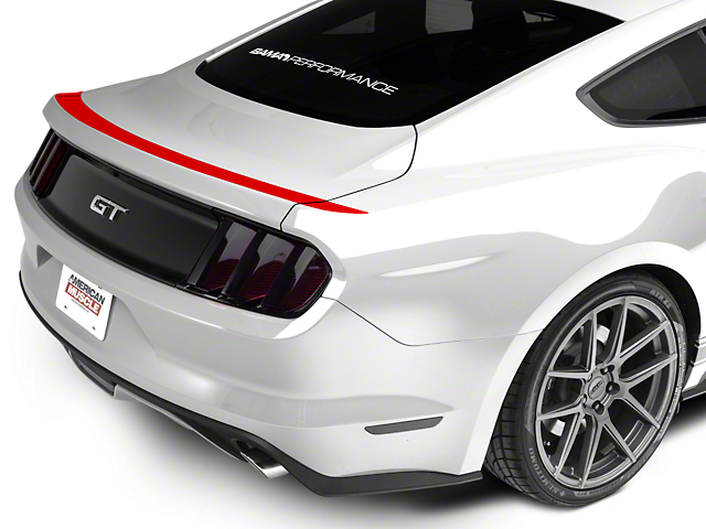 American Muscle Graphics Upper Rear Deck Decal - Red (15-18 All)
