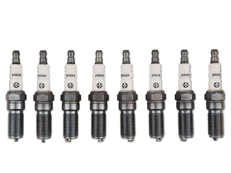 Brisk Silver Racing Spark Plugs - High Boost (11-17 GT; 12-13 BOSS 302)