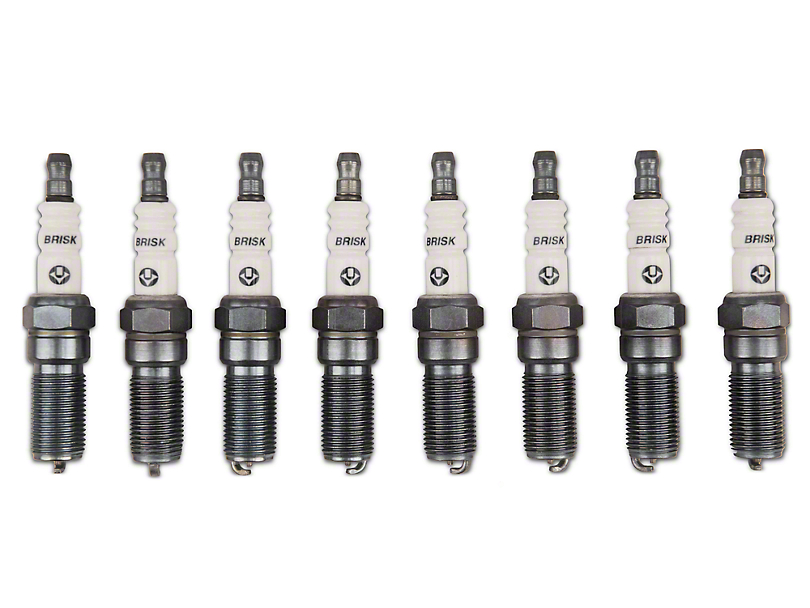 Brisk Silver Racing Spark Plugs - Mild Boost (11-17 GT; 12-13 BOSS 302)