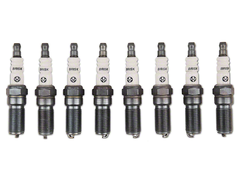 Brisk Silver Racing Spark Plugs - Low Boost (11-17 GT; 12-13 BOSS 302)