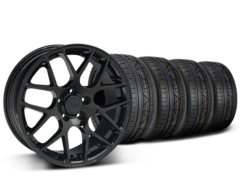 Staggered AMR Black Wheel & NITTO INVO Tire Kit - 19x8.5/11 (15-18 All)