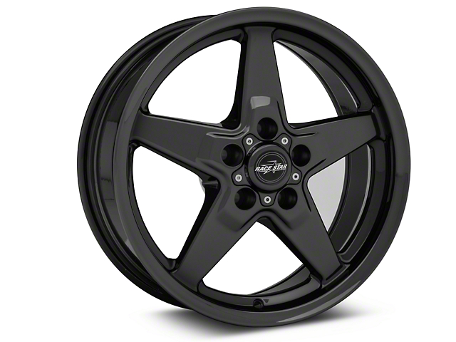 Race Star 92 Drag Star Dark Star Black Chrome Wheel; Front Only; Direct Drill; 17x7 (05-09 All)