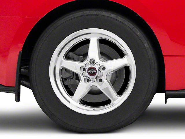 Race Star 92 Drag Star Polished Wheel; Rear Only; Direct Drill; 17x9.5 (15-20 GT, EcoBoost, V6)