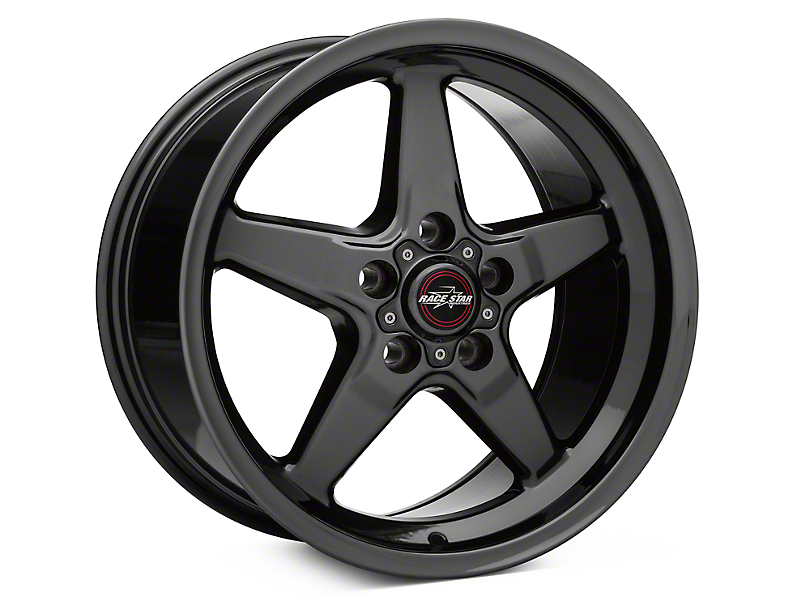 Race Star 92 Drag Star Dark Star Black Chrome Wheel; Rear Only; 17x9.5 (10-14 All)