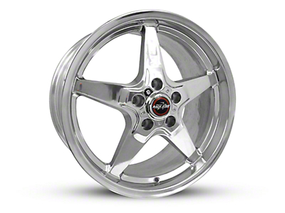 Race Star Drag Star Polished Wheel - Direct Drill - 18x10.5 (15-17 GT, EcoBoost, V6)