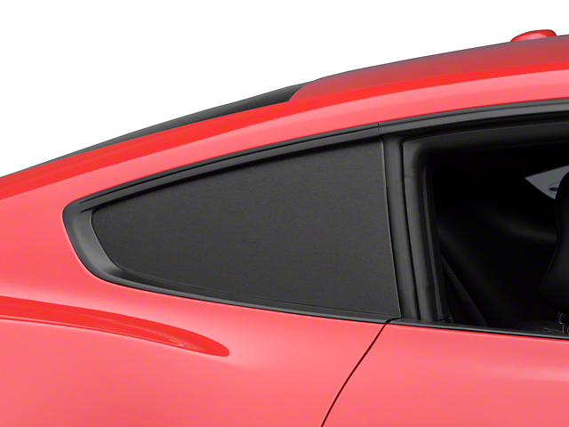 American Muscle Graphics Brushed Black Quarter Window Blackout (15-17 Fastback)