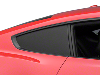 American Muscle Graphics Brushed Black Quarter Window Blackout (15-18 Fastback)