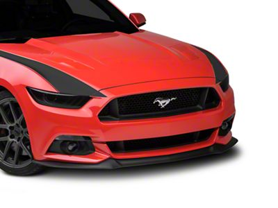 American Muscle Graphics Outer Hood Stripes - Matte Black (15-17 All)