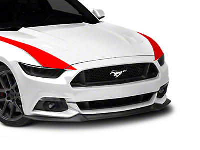 American Muscle Graphics Outer Hood Stripes - Red (15-17 All)