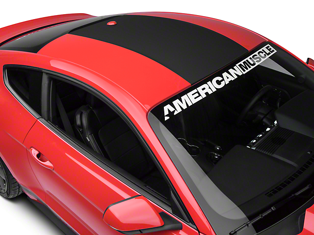 American Muscle Graphics Roof Panel Decal - Matte Black (15-18 All)