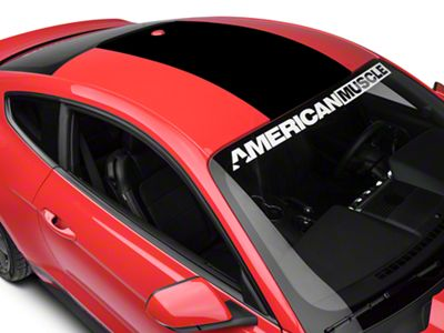 American Muscle Graphics Roof Panel Decal - Black w/o Roof Antenna (15-19 All)