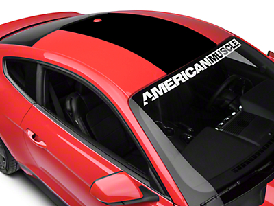 American Muscle Graphics Roof Panel Decal - Black (15-18 All)