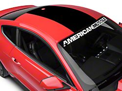 American Muscle Graphics Roof Panel Decal - Black (15-20 All)