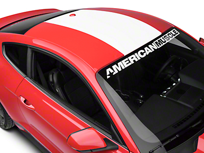 American Muscle Graphics Roof Panel Decal - White (15-18 All)