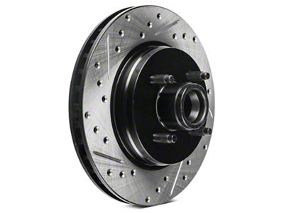 StopTech Sport Cross-Drilled & Slotted Rotors - Front Pair (87-93 5.0L)