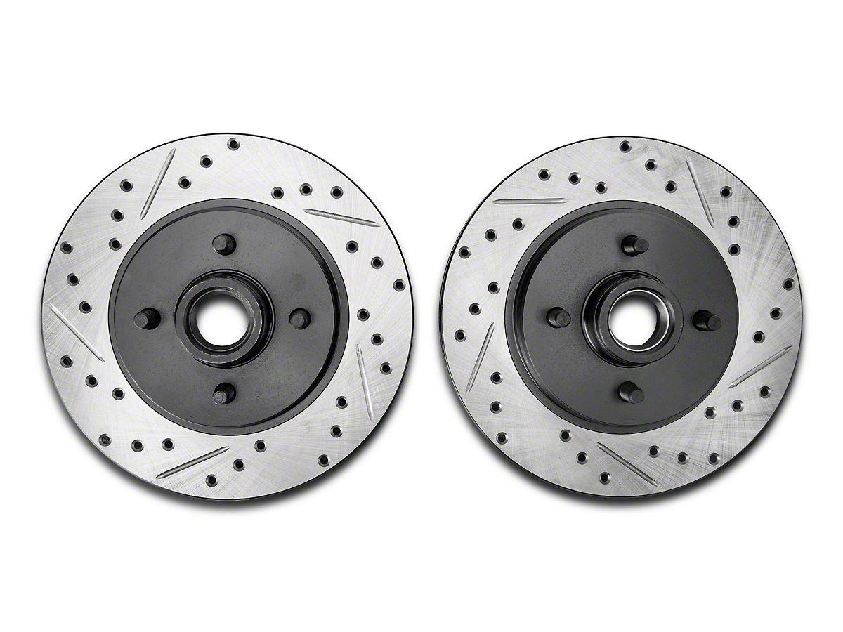 Front+Rear Kit 4 Cross-Drilled Disc Brake Rotors 8 Semi-Metallic Pads High-End Fits:- 5lug