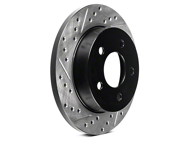 StopTech Sport Cross-Drilled & Slotted Rotors - Rear Pair (94-04 GT, V6)