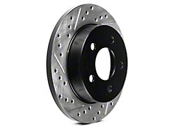 StopTech Sport Cross-Drilled and Slotted Rotors; Rear Pair (94-04 GT, V6)