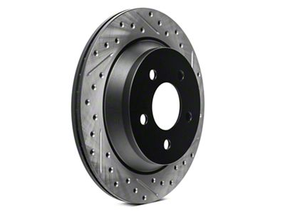 StopTech Sport Cross-Drilled & Slotted Rotors - Rear Pair (94-04 Cobra, Bullitt, Mach 1)