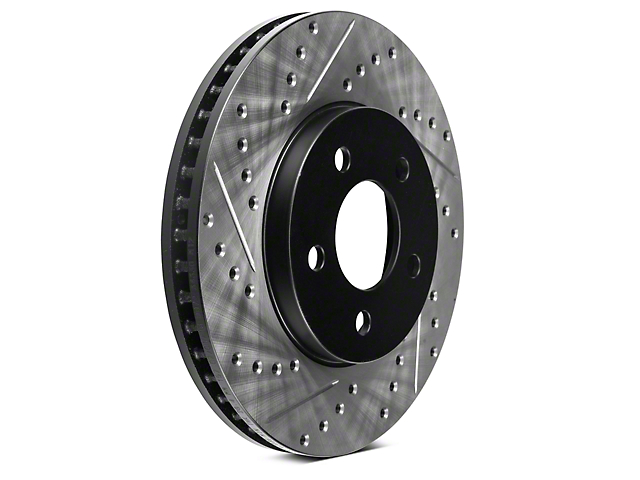 StopTech Sport Cross-Drilled and Slotted Rotors; Front Pair (05-10 V6)
