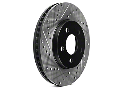 StopTech Sport Cross-Drilled & Slotted Rotors - Front Pair (05-10 GT; 11-14 V6)