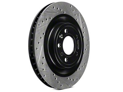StopTech Sport Cross-Drilled & Slotted Rotors - Front Pair (11-14 Standard GT)