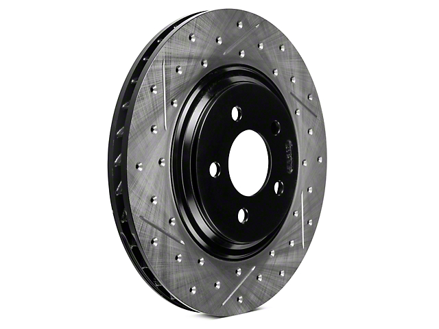 StopTech Sport Cross-Drilled & Slotted Rotors - Front Pair (94-04 Cobra, Bullitt, Mach 1)