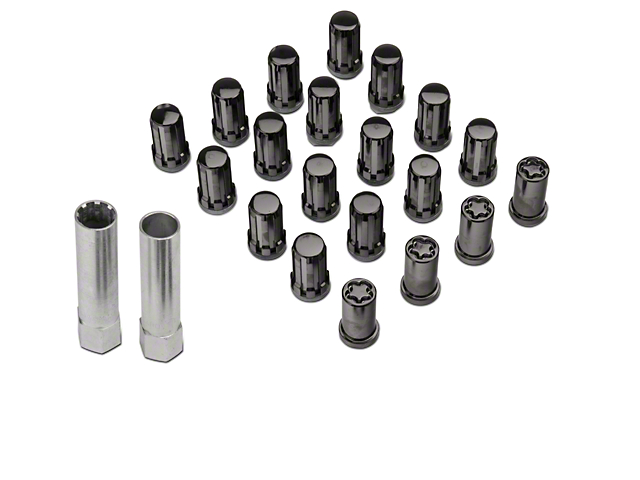 McGard Tuner Style Lug Nut Kit w/ Locks - Black (79-14 All)
