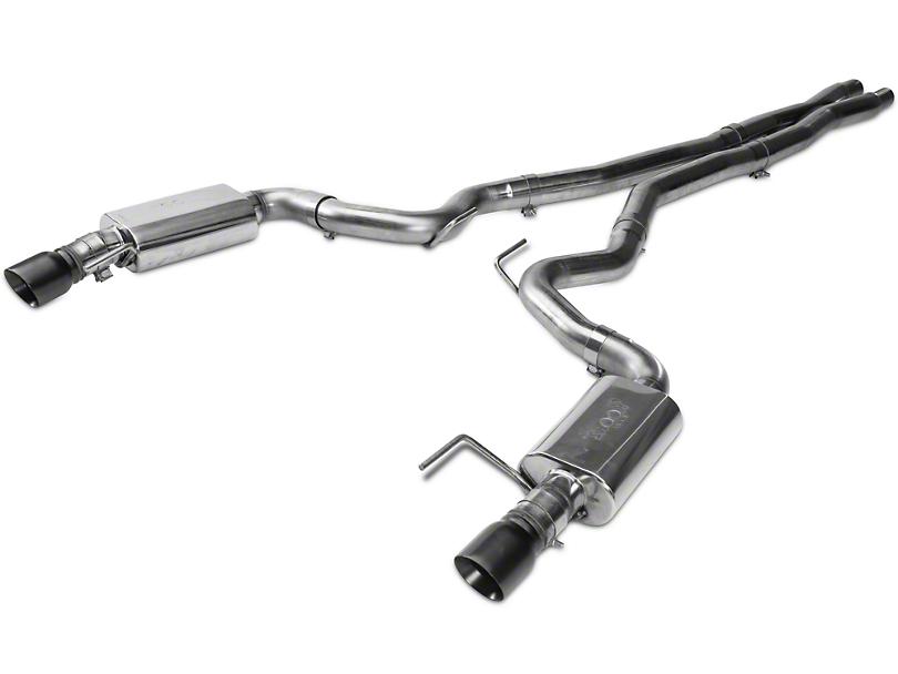 Kooks Cat-Back Exhaust w/ X-Pipe - Black Tips (15-17 GT)