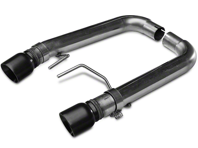 Kooks Muffler Delete Axle-Back Exhaust - Black Tips (15-17 GT Fastback)