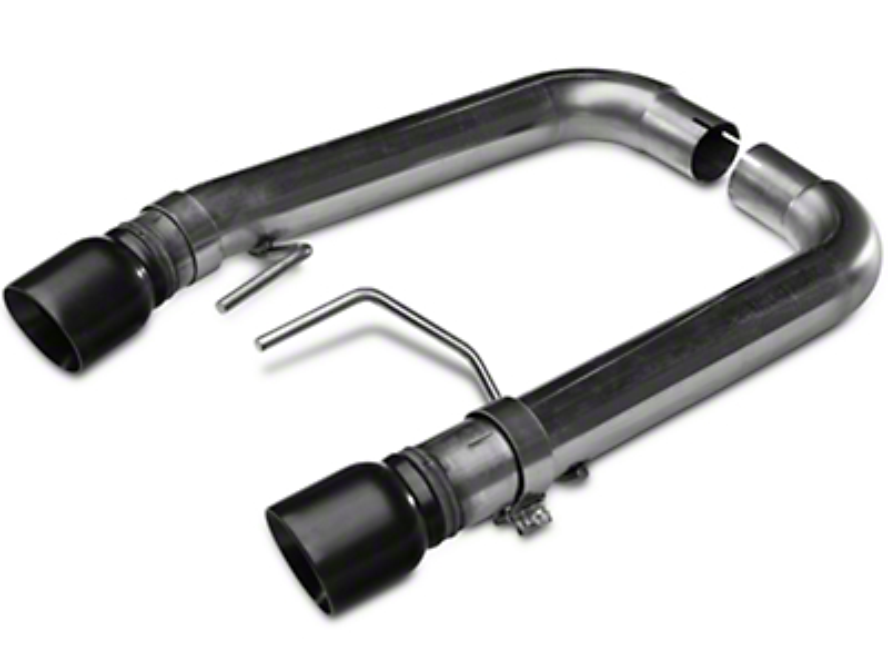 Kooks Muffler Delete Axle-Back Exhaust - Black Tips (15-17 GT Fastback)