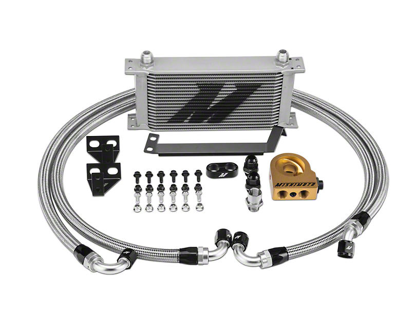 Mishimoto Performance Thermostatic Oil Cooler - Silver (15-17 EcoBoost)