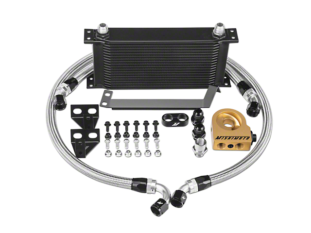 Mishimoto Performance Thermostatic Oil Cooler - Black (15-17 EcoBoost)