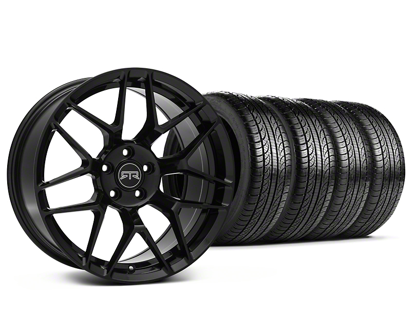 RTR Tech 7 Black Wheel & Pirelli Tire Kit - 19x9.5 (05-14 All)