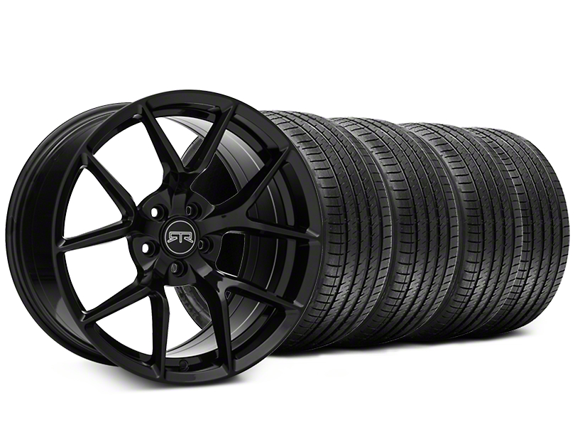 RTR Tech 5 Black Wheel & Sumitomo Maximum Performance HTR Z5 Tire Kit - 19x9.5 (05-14 All)