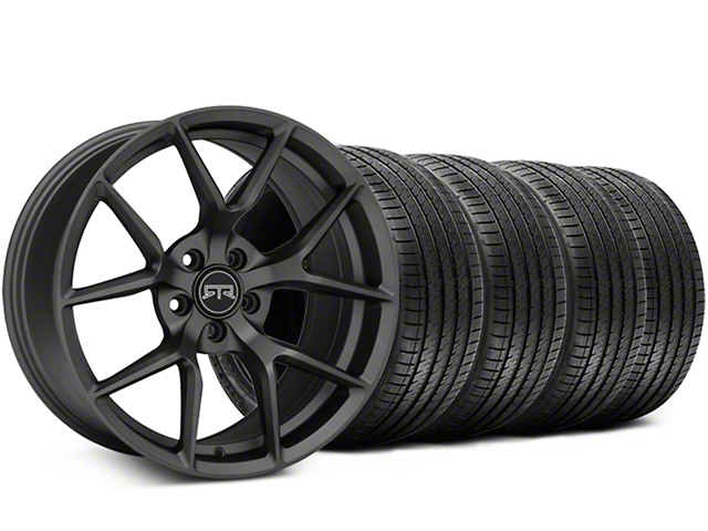 RTR Tech 5 Charcoal Wheel and Sumitomo Maximum Performance HTR Z5 Tire Kit; 19x9.5 (05-14 All)