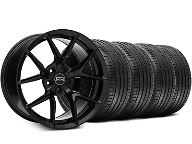 RTR Tech 5 Black Wheel & Sumitomo Tire Kit - 20x9.5 (05-14 All)